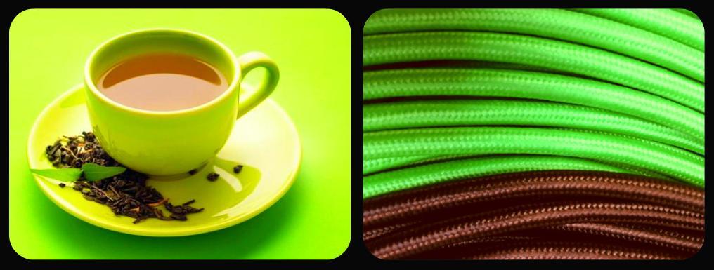 Ya tienes tu Cable textil té verde?